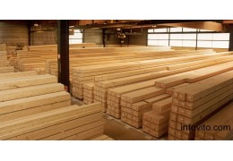 Балка деревянная 100x250x6000 мм сорт 1.