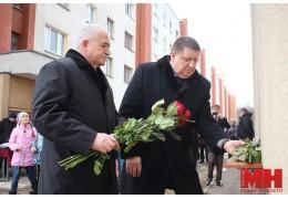 В Минске установили мемориальную доску Герою Советского Союза Газаросу Авакяну