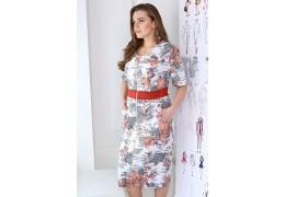 Платье полуприлегающего силуэта