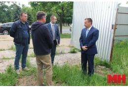В Заводском районе глава администрации посетил строительные объекты