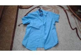 Рубашка бирюзовая с короткими рукавами