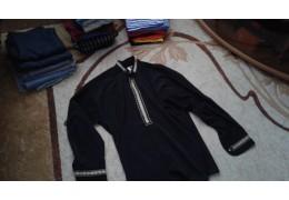 Рубашка черная  с длинными рукавами
