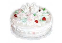 """Свадебный торт № 4 (по рецепту """"Торт """"Любимый"""")"""