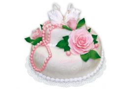 """Свадебный торт № 3 (по рецепту """"Торт """"Волшебный № 1"""")"""