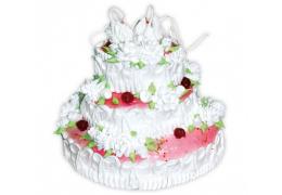"""Свадебный торт № 2 (по рецепту """"Торт """"Любимый"""")"""