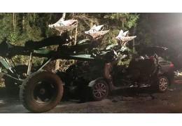 """В Чериковском районе """"Рено"""" врезался в трактор с плугами, четыре женщины погибли"""