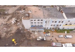 В Гатчине завершили разбор завалов после взрыва на заводе
