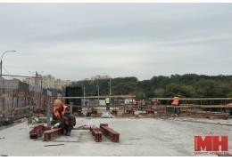 Когда завершится ремонт моста через Свислочь на пр. Машерова