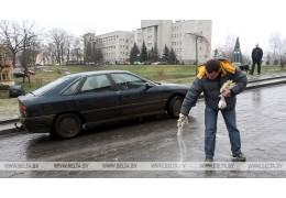 ГАИ призывает водителей к повышенной внимательности на дорогах из-за гололедицы