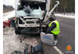 Водитель УАЗа погиб в лобовом столкновении на трассе Могилев-Бобруйск