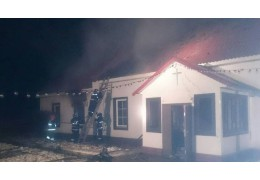 В Хойниках горела церковь