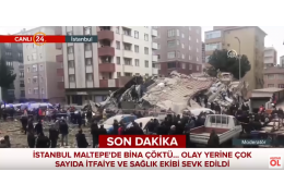 В Стамбуле из-под завалов рухнувшей восьмиэтажки достали трех человек