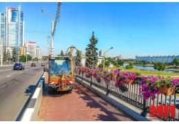 Более 11 тыс. кашпо и других конструкций оформления установят в Минске