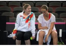Теннисистки провели тренировку в Австралии перед стартом в Кубке Федерации