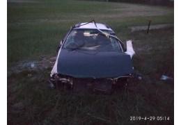В Столинском районе в результате опрокидывания автомобиля погиб водитель