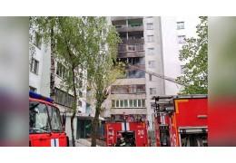 Балкон и квартира загорелись в минской многоэтажке