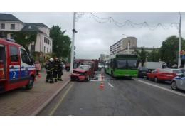 Брест: в результате ДТП на улице Ленина травмирована женщина-водитель