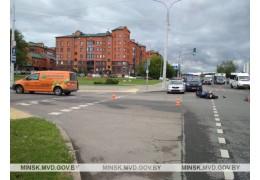 ДТП с участием мотоциклиста на ул.Стариновской