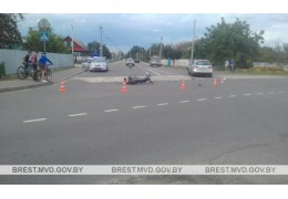 ДТП с мотоциклистом в Дрогичине