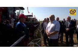 Лукашенко лично оценил ход уборочной кампании