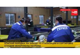 Патроны в мусоре нашли рабочие мусоросортировочного завода под Гродно