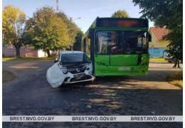 В Барановичах в результате ДТП травмирован пассажир автобуса