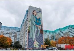 Новый стрит-арт в Минске: на ул. Притыцкого рисуют мурал-триптих