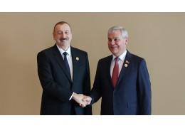 Андрейченко провел краткие переговоры с Алиевым на полях саммита
