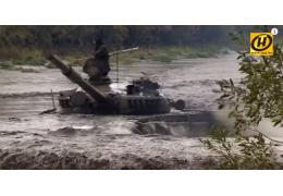 Управление танком под водой. Упражения для курсантов. Белорусская армия