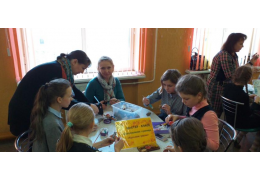 В гимназии № 25 прошла акция «Связанные добром»