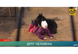 5-летняя девочка дружит с волком!
