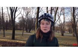 Почему минчанка предпочитает двухколесный транспорт даже в холода