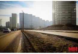 Улицы вокруг стройплощадок комплекса «Минск Мир» утопают в грязи.