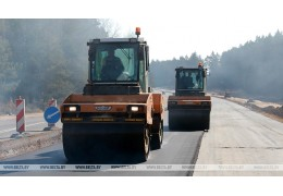 На участке дороги Могилев-Чериков-Костюковичи завершают укладку легкого бетона