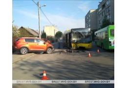В Бресте в ДТП пострадала женщина-водитель