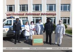 Кобринские милиционеры присоединились к акции «Милиция - врачам»
