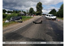 В Лунинецком районе в ДТП пострадал водитель