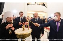 Лукашенко в Минском районе посетил новый храм в честь св пророка Иоанна Предтечи