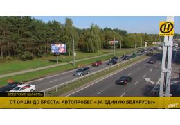 От Орши до Бреста: как прошел автопробег «За Беларусь» с национальной символикой